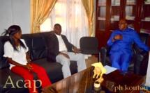 le ministre Kazagui et ses invités