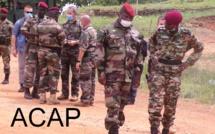 Le Général Z.MAMADOU en compagnie du Général J.P DOLLE-WAYA visitant la base FACA à Ndele le 02.06.20