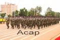 Défilé du personnel féminin de l'armée de terre